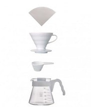 Coffee Server Set - Kit completo V60 cerámico 02 blanco VCSD-02-EX