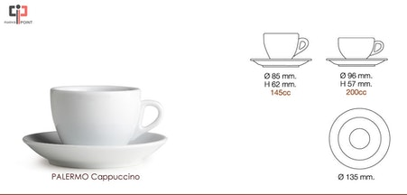 Tazas Latte 200 ml Nuova Point