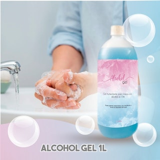 Alcohol Gel 1 Lt  con humectante  ENTREGA 24 HRS. Hasta Agotar Stock