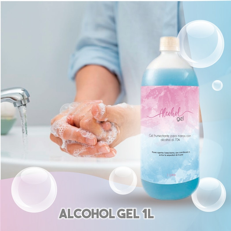 Alcohol Gel 1 Lt  con humectante