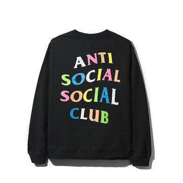 ASSC RAINBOW CREWNECK BLACK