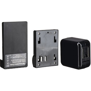 Cargador de batería ikan Single DV y adaptador de pared USB con placa Sony L-Series