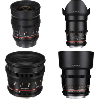 24, 35, 50, 85mm T1.5 Cine DS Lens Bundle for Canon EF Mount