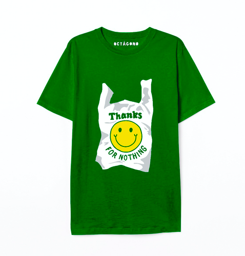 Playera Thanks for nothing verde