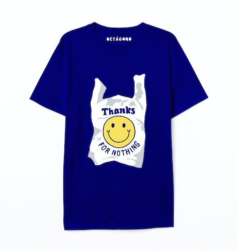Playera Thanks for nothing azul