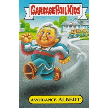 Garbage Pail Kids '80s Sitcom Card (Avoidance Albert)