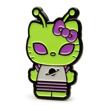 "Hello Kitty Time to Shine 1.5"" Pin (Green Alien)"