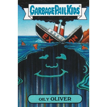 Garbage Pail Kids '80s History Card (Oily Oliver)