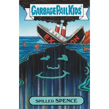 Garbage Pail Kids '80s History Card (Spilled Spence)