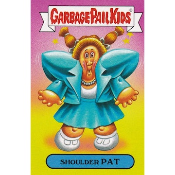 Garbage Pail Kids '80s Fashions & Fads Card (Shoulder Pat)