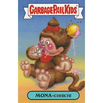 Garbage Pail Kids '80s Cartoons Card (Mona-Chhichi)