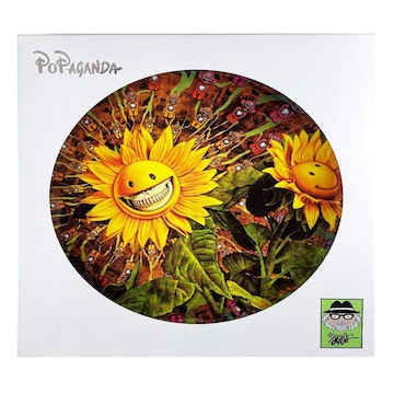 Sunflower Grin Small Plate by Ron English