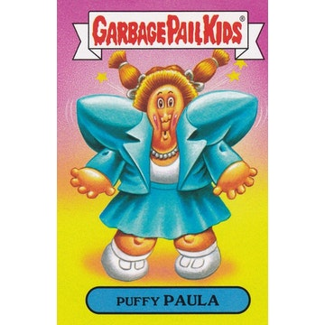 Garbage Pail Kids '80s Fashions & Fads Card (Puffy Paula)