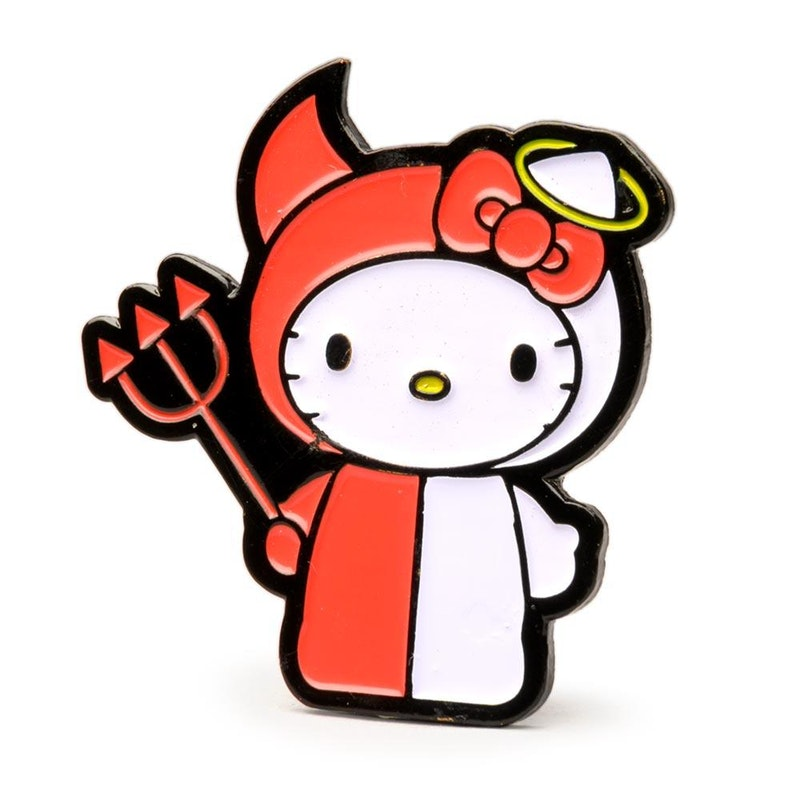 """Hello Kitty Time to Shine 1.5"""" Pin (Angel/Devil)"""