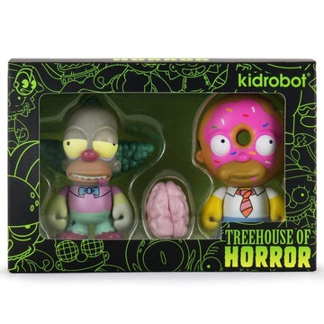 Simpsons TOH Krusty Zombie & Homer Donut Pack (iamretro exclusive)
