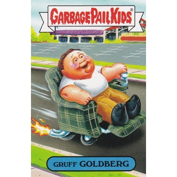 Garbage Pail Kids '80s Sitcom Card (Gruff Goldberg)