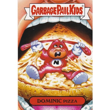 Garbage Pail Kids '80s Shows & Ads Card (Dominic Pizza)