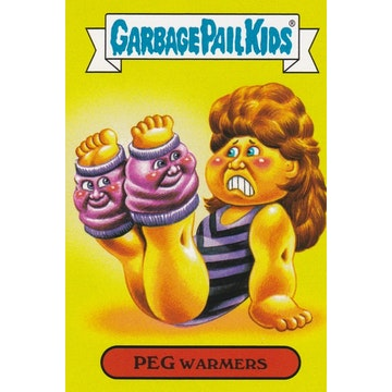 Garbage Pail Kids '80s Fashions & Fads Card (Peg Warmers)