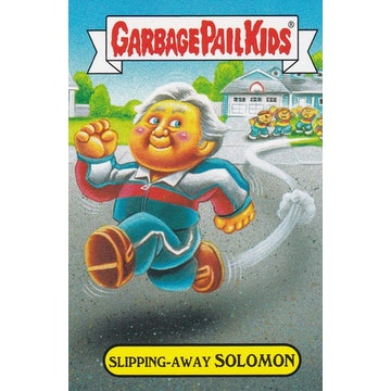 Garbage Pail Kids '80s Sitcom Card (Slipping-Away Solomon)