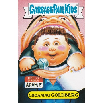 Garbage Pail Kids '80s Sitcom Card (Groaning Goldberg)