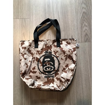 Bape x Stussy Zipper Tote Bag