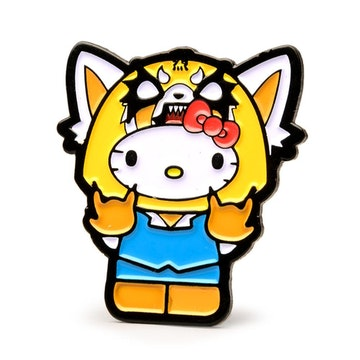 "Hello Kitty Time to Shine 1.5"" Pin (Aggretsuko)"