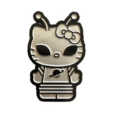 "Hello Kitty Time to Shine 1.5"" Pin (Silver Alien)"