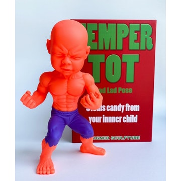 "Orange Anger Temper Tot 10"" Figure by Ron English (Signed)"