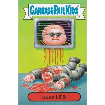 Garbage Pail Kids '80s Shows & Ads Card (Head Les)