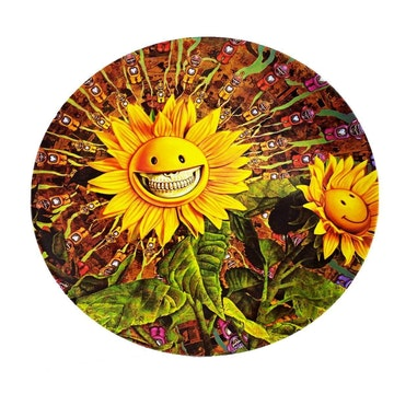 Sunflower Grin Large Plate by Ron English
