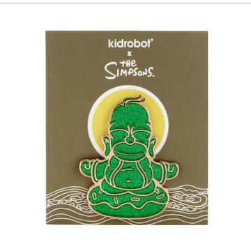 Jade Homer Buddha Enamel Pin by Simpsons x Kidrobot - IamRetro Exclusive