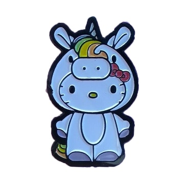 "Hello Kitty Time to Shine 1.5"" Pin (Unicorn)"
