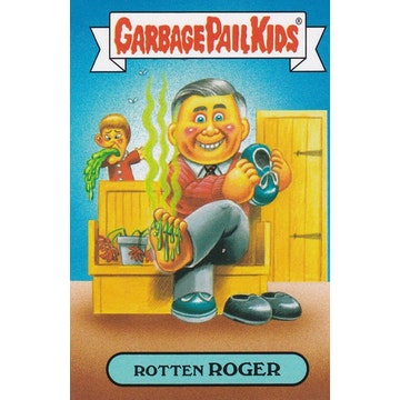 Garbage Pail Kids '80s Celebrities Card (Rotten Roger)