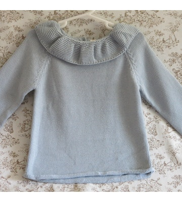SWEATER CELESTE CON CUELLO