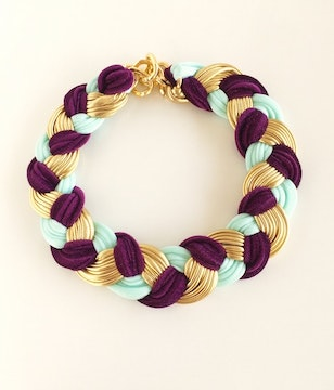 Collar purple velvet queen