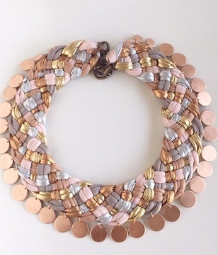 Collar love swing & rose gold