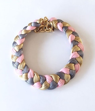 Collar rosa & metallic