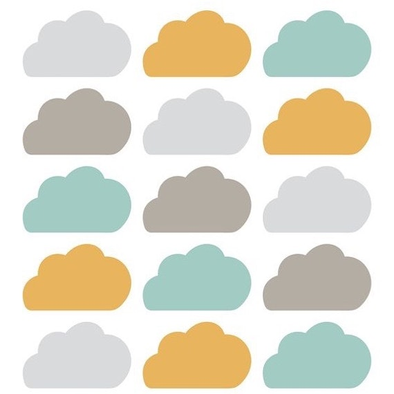 Wall stickers nubes