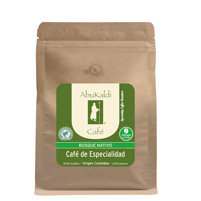 Café Bosque Nativo Colombia , grano 1.000g.