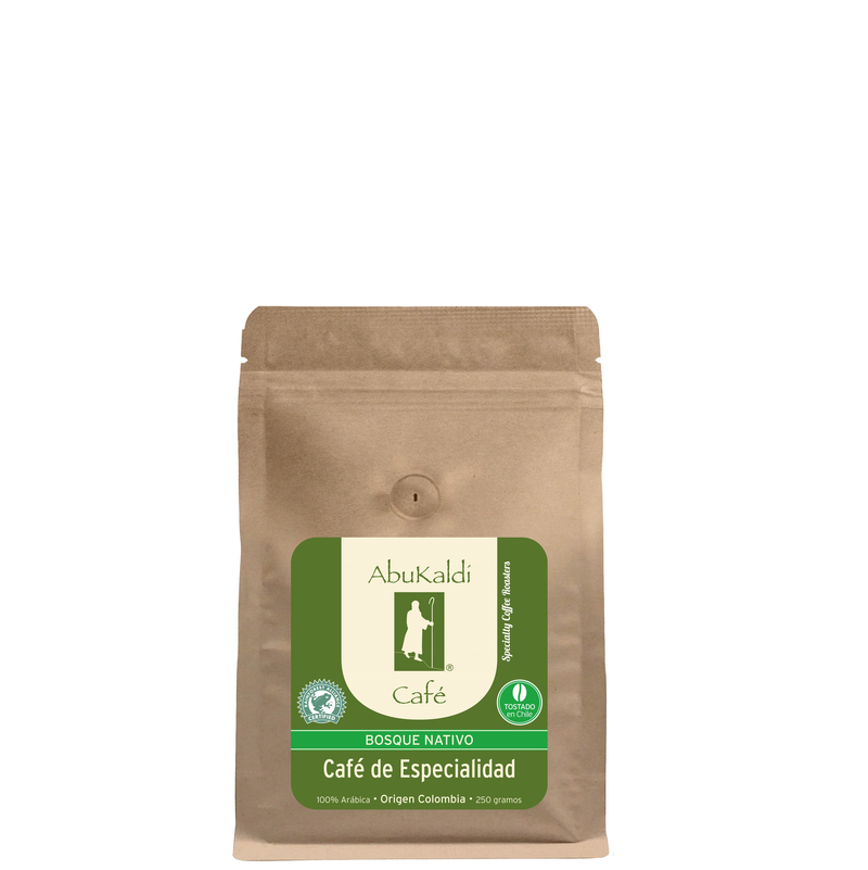 Café Bosque Nativo Colombia , grano 250g.
