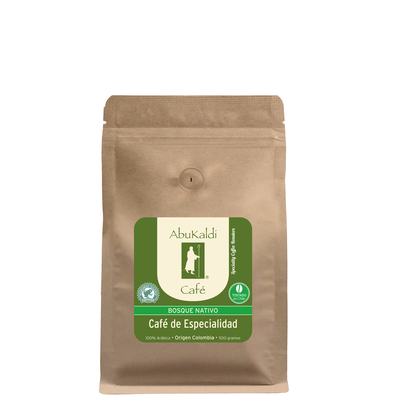 Café Bosque Nativo Colombia, molido 500g.