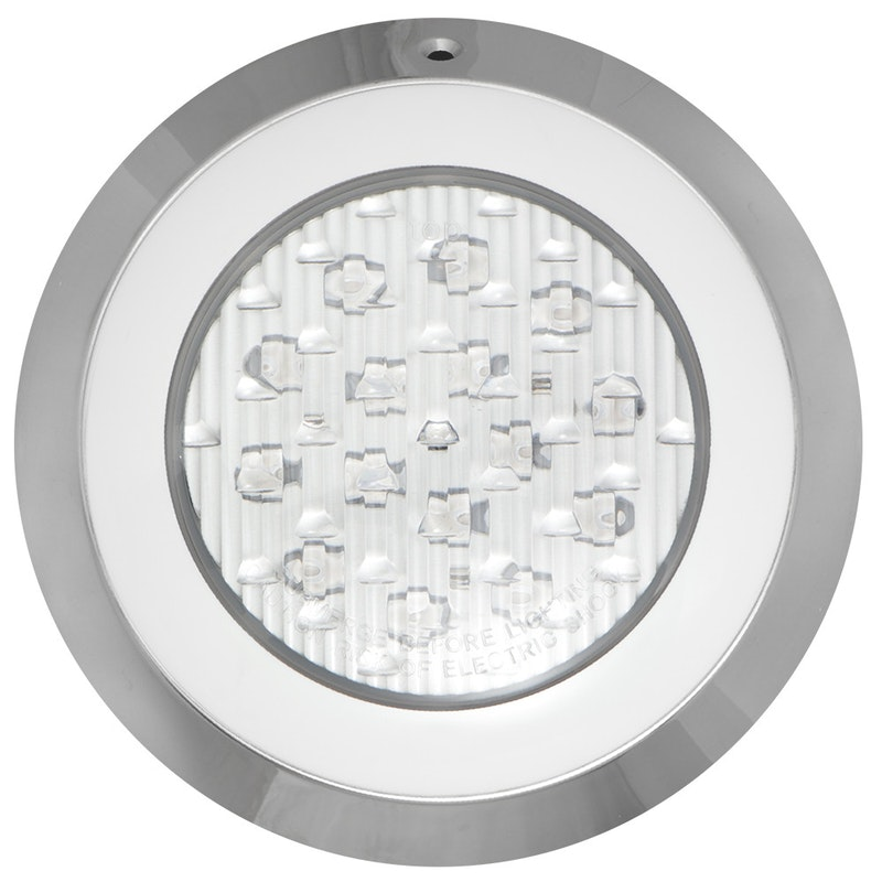 Lampara LED En Acero Inoxidable 316 Marca PANDA Serie DELUXE Luz Multicolor RGB Montaje En Pared De 9