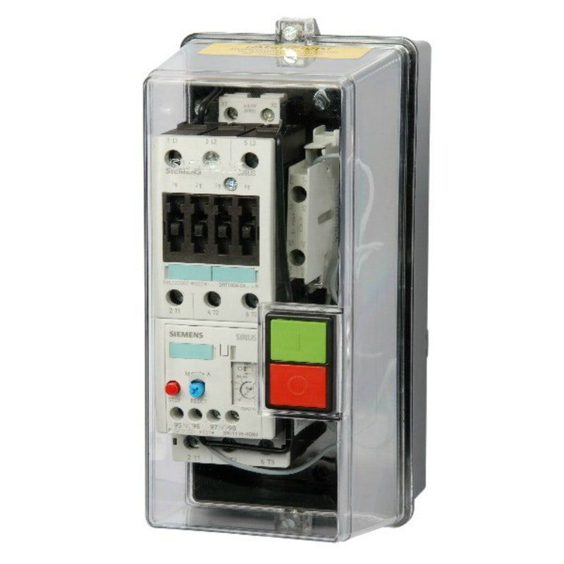 ARRANCADOR MAGNETICO A TENSION PLENA SIEMENS SERIE 3RS, SIRIUS 1.5 HP 3 FASES 220 VOLTS 4.5 A 6.3 AMPERS ATPT14-6.3220