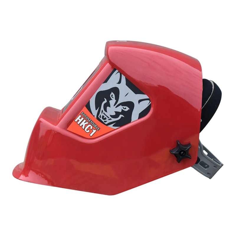 Careta Electronica Para Soldar Husky Sombra Variable HKC1 Roja