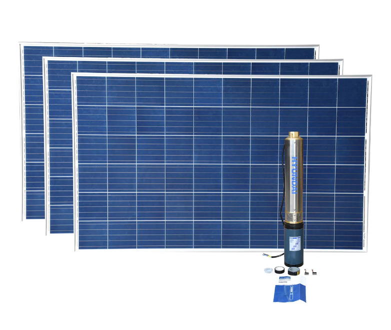 BOMBA SUMERGIBLE SOLAR HYUNDAI 1 HP DESCARGA 1 1/4