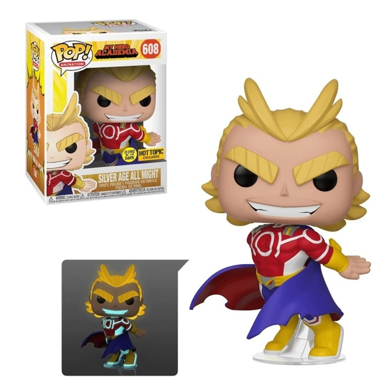 Funko Pop Hot Topic Exclusive All Might Glows in the Dark 608
