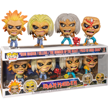 Funko Pop AE Exclusive Ironmaiden 4pack set Glow in the Dark