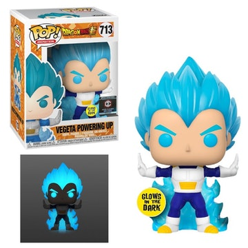 Funko Pop Chalice Exclusive Vegeta Powering Up Dragon Ball Super Glows in the Dark