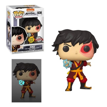 Funko Pop Special Edition Zuko with Lightning Avatar: The Last Airbender Glows In the Dark