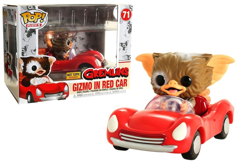 Funko Pop Rides Hot Topic Exclusive Gizmo in Red Car